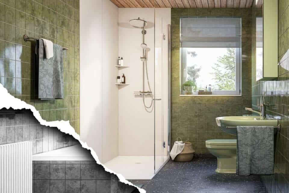 Viterma Teilbadsanierung Wanne raus, Dusche rein