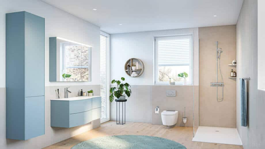 Ein barrierefreies Badezimmer von Viterma