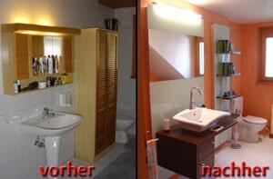 Badezimmer Teilrenovierung