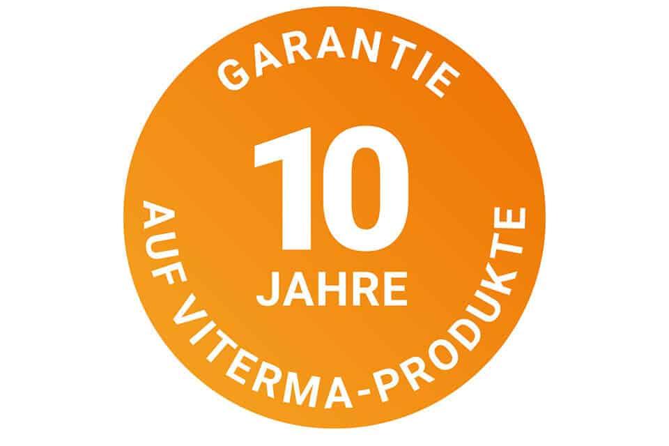 Siegel 10 Jahre Garantie auf Viterma-Produkte